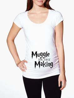 Harry Potter Maternity Shirt - Muggle in the Making by KennieBlossoms on Etsy https://www.etsy.com/listing/254838783/harry-potter-maternity-shirt-muggle-in