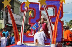 Miss San Pedro Michelle Nuñez leads the San Pedro Independence Day Parade #holiday #belize