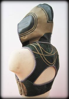 Leather Bustier Vest with Detachable Hood. $245.00, via Etsy.