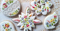 These Hand-Decorated Cookies Look Like Delicate And Delicious Embroideries via LittleThings.com