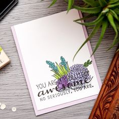 Hero Arts | You Are Absolutely Awesome Succulents Card