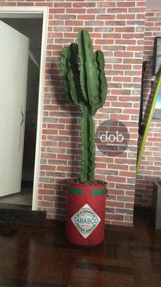 Tonel lata barril decorado com cactus #tambor #cactus #decoração