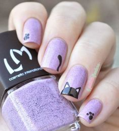 Top 32 Chic Black Cat Manicure Nails To Try Pretty And Modern Black Cat Nail Art Designs Ideas Cat appearance lovely and cute. Cat Nail Art, Animal Nail Art, Cat Nails, Nail Art Diy, Nail Art Simple, Simple Nail Art Designs, Short Nail Designs, Cat Nail Designs, Ongles Or Rose