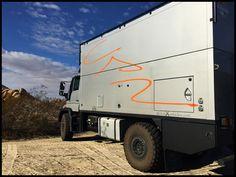 Pangea Lifting Roof on Unimog U-500   Global Expedition Vehicles