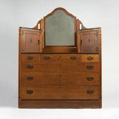 A Limbert Inlaid Oak Dresser Made For The Mission Inn Riverside Ca