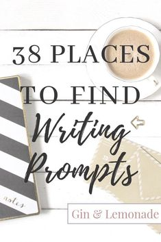 38 places to find writing prompts -Where to find writing prompts and inspiration. Writing Resources, Blog Writing, Writing A Book, Writing Tips, Writing Worksheets, Writing Challenge, Start Writing, Writing Help, Gin And Lemonade