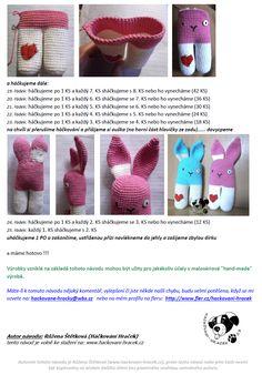 Zajic | Návody na háčkované hračky Minecraft, Crochet Hats, Amigurumi, Knitting Hats
