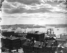 St. John, looking towards Carlton, NB, 1870.---vintage everyday: Old Photographs of Canada from 1858-1935