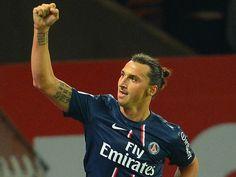 Zlatan celebrates another goal. Zlatan Ibrahimovic, the world's best soccer player.