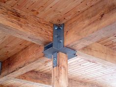Heavy Timber Connection Wood Beams, Joinery, Wood Projects, House Projects, Building Plans, Building A House, Woodworking Patterns, Woodworking Plans, Pergola Plans