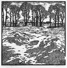 wood cut landscapes - Google Search
