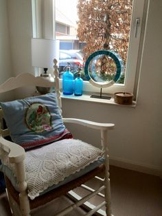 Rocking chair from the seventies in which I am nursed!