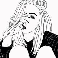 Resultado de imagem para tumblr outlines drawing