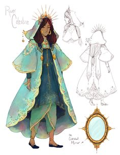 Character reference for River Celestine They… – Holly McGillis – Character Design Female Character Design, Character Design References, Character Creation, Character Design Inspiration, Character Concept, Character Art, Concept Art, Character Costumes, Dnd Characters