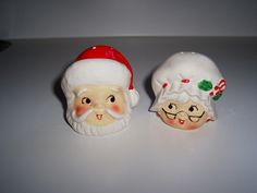 Vintage Christmas Santa salt and pepper shakers Mr and Mrs Claus