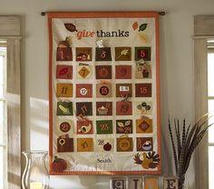 Thanksgiving calendar