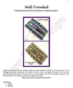 Beadweaving Tutorial Pattern Bracelet Superduo by SweetFreedom