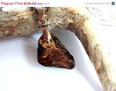 EcoFriendly  Reclaimed Wood Necklace Rustic Branch by Hendywood