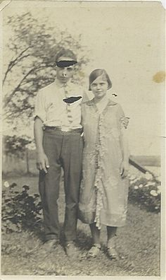Earl Sparks with his sister, Marie.