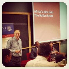 Our very own #JeremySampson speaking about #Africa's new gold, the #NationBrand! So inspiring! #Proudly #SouthAfrican!