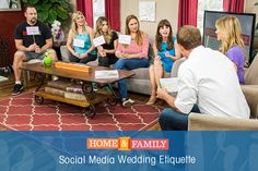 To post or not to post? In the digital world we now live in, there is etiquette to follow. Check out these tips for social media at weddings! Tune in to Home and Family at 10/9c on Hallmark Channel.
