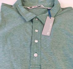 Travis Mathew Men's Short Sleeve Polo Shirt Crenshaw Size 2XL XXL New NWT Green #TravisMathew #PoloRugby