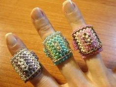 BeadsFriends: Right Angle Weave tutorial - How to make a bead ring (RAW)…