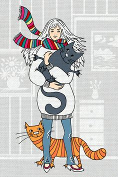 Cats by Natalia Illarionova, via Behance