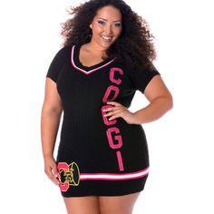 V Neck COOGI Sweater Dress Tunic Top Plus Size #UNIQUE_WOMENS_FASHION