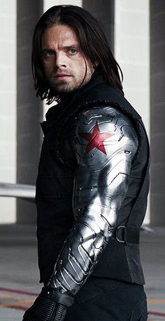 Sebastian Stan as Bucky Barnes in Captain America: The First Avenger Captain America: The Winter Soldier Captain America: Civil War Avengers: Infinity War ; Avengers: End Game Marvel Man, Man Thing Marvel, Bucky Barnes, Sebastian Stan, Winter Soldier Bucky, Stucky, Marvel Characters, Marvel Movies, Chris Evans