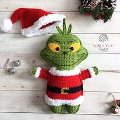 Crochet Amigurumi Ideas The Grinch Free Crochet Pattern - Hi, friends! I promised one last ragdoll pattern for the year and, (while it's admittedly a bit late), here it… Christmas Crochet Patterns, Holiday Crochet, Crochet Patterns Amigurumi, Crochet Gifts, Crochet Dolls, Crochet Yarn, Crotchet, Kawaii Crochet, Cute Crochet