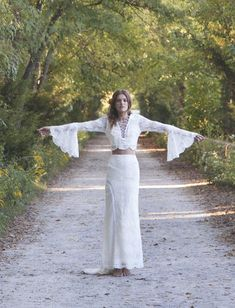 Fleetwood wedding dress from Daughter's of Simone wedding dresses 2016 - Boho 2 piece wedding dress - see the rest of the collection on www.onefabday.com