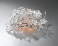 Wall lamp, Transparent flowers and leaves