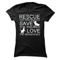 Rescue cat T Shirt, Hoodie, Sweatshirts - shirt #tee #fashion