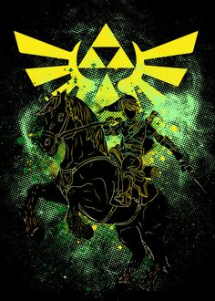 """Beautiful """"Legend"""" metal poster created by Donnie . Our Displate metal prints will make your walls awesome. Zelda Skyward, Link Zelda, Nerd Art, Cool Posters, Wall Photos, Legend Of Zelda, Arcade, Videogames, Tattoo Ideas"""