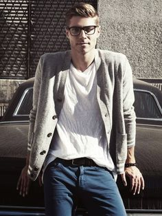 My favorite kind of guy. Tall lanky, glasses, geek chic but cool
