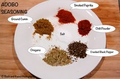 Recipe for adobo seasoning. Add fresh garlic and onion while cooking the dish.