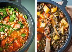 Spanish stew with potatoes, chorizo & chickpeas
