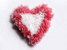 Puffy Heart - Tissue Paper Heart Craft