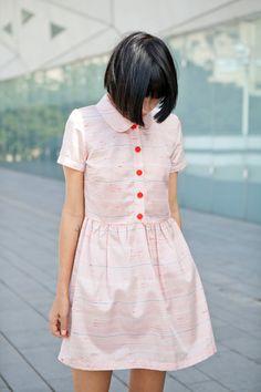 Striped Mini dresssummer dress by ANNAKSHOP on Etsy, $79.00