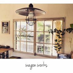 chikoさんの、窓枠DIY,男前インテリア,カフェ風,DIY,wagonworks,RC愛知,部屋全体,のお部屋写真
