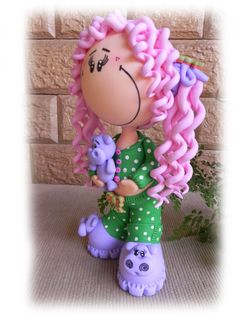 Boneca Fofucha em Biscuit | Vanessa Assis | Elo7