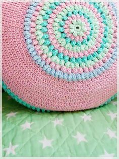 Round cushion  - sure wish this was in English. The center reminds me of something gram made for me.