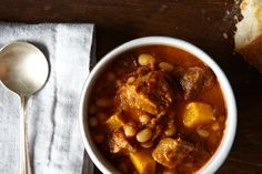 Pork Stew with White Beans and Butternut Squash, a recipe on Food52
