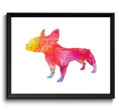 Boston terrier art, Boston bull, boston bull terrier, american gentleman, 11x14 Boston terrier, 8x10 boston terrier, digital file - SKU1032 by WatercolorArtHut on Etsy
