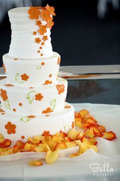 The orange petals really make this cake stand out