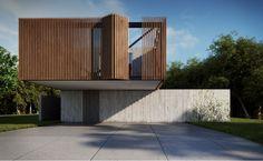 Casa en Xangrilá by Maam Arquitectos Modern Architecture House, Facade Architecture, Residential Architecture, Facade Design, Exterior Design, House Design, Arch House, D House, House Cladding