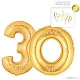 Andaz Press Giant Gold Helium Foil Balloon Party Kit with Sign, Jumbo 40-inch! #AndazPress #Balloons #GoilFoil #PartySigns #Birthday #Anniversary