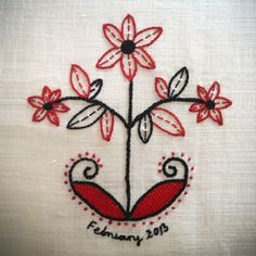 traditional polish embroidery | polish_embroidery_on_cushion_rejon_rzeszowski_63