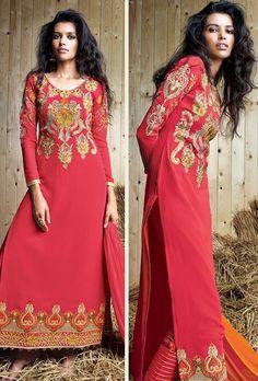 Red Designer Suit - Desi Royale